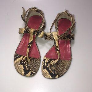 Kate Spade Python T Strap Sandal